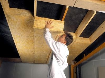 Теплоизоляция потолка в подвале