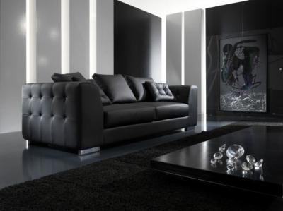 Чёрная мебель. Как и с чем сочетать?
