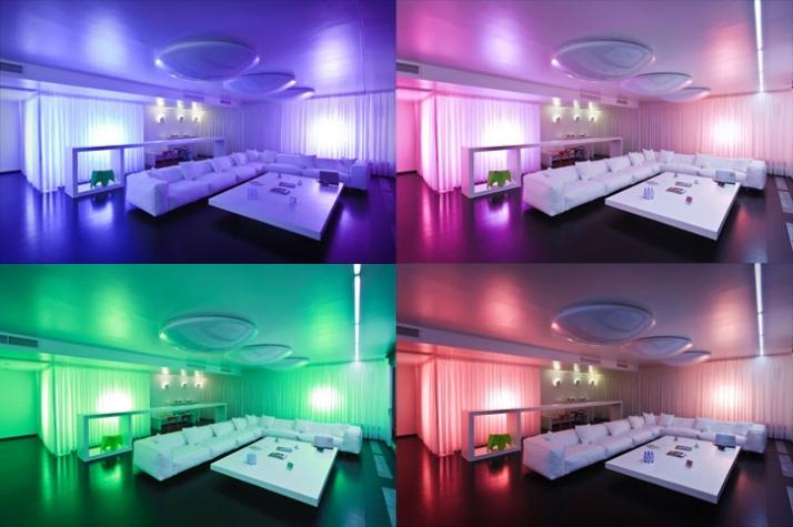 Измение дизайна помещения с помощью света